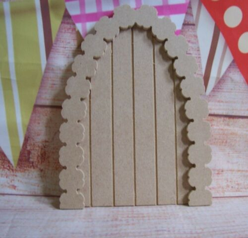 MDF Daisy Flower Arch  Grooved  FAIRY DOORS craft shape  150mm