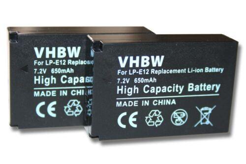 2x Batería para Canon EOS M50//LP-E12
