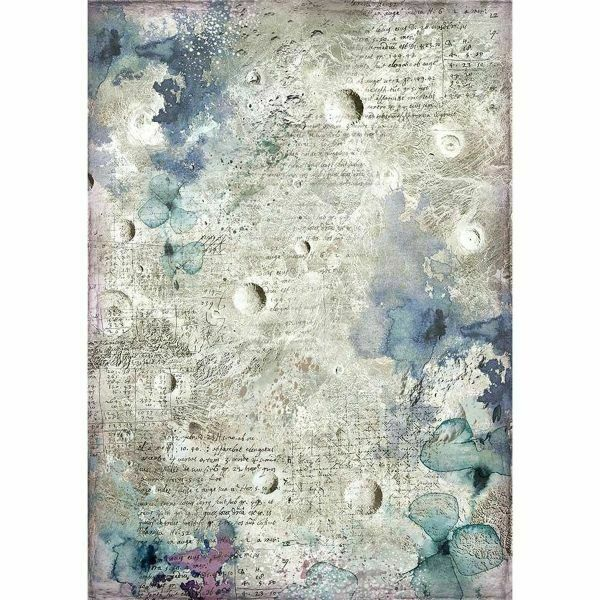STAMPERIA A4 Rice Paper Craft Tissue Decoupage Scrapbooking Cosmos Astral