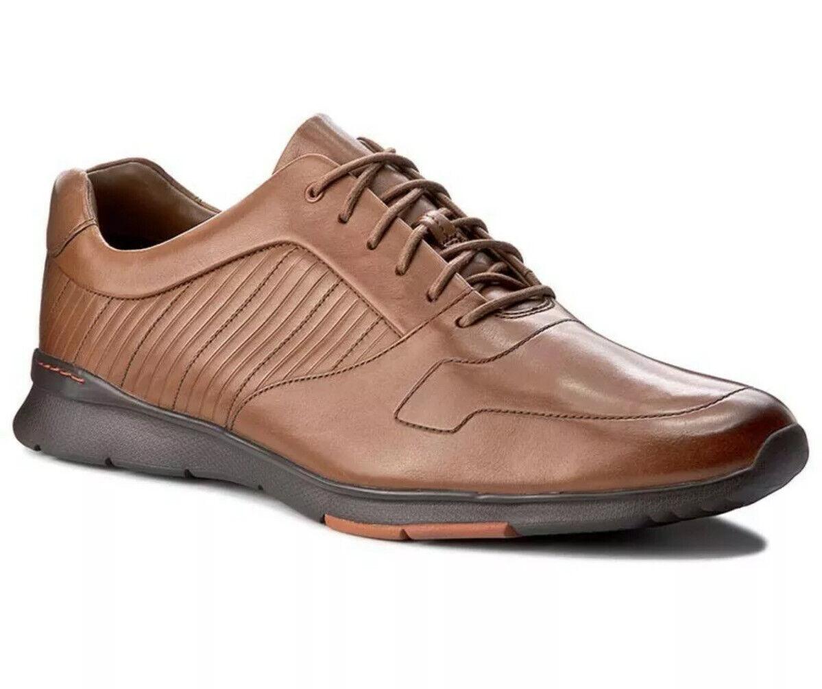 New Clarks UK 9.5 G Men's Tynamo Race Derbys Tan Leather Derby Shoes EU 44