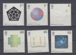United-Kingdom-1954-59-100-Years-Nobel-Prizes-MNH