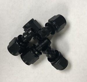 8AN-8-AN-Straight-Push-Lock-Loc-Hose-End-Fitting-Black-Bundle-of-5