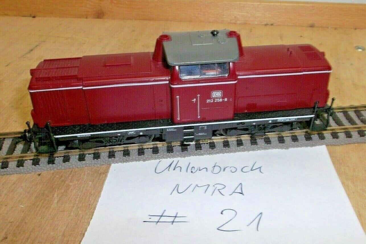Fleischmann H0 Locomotora Diésel Br 212 258-8 de DB Rojo Viejo Digital Adr. 21