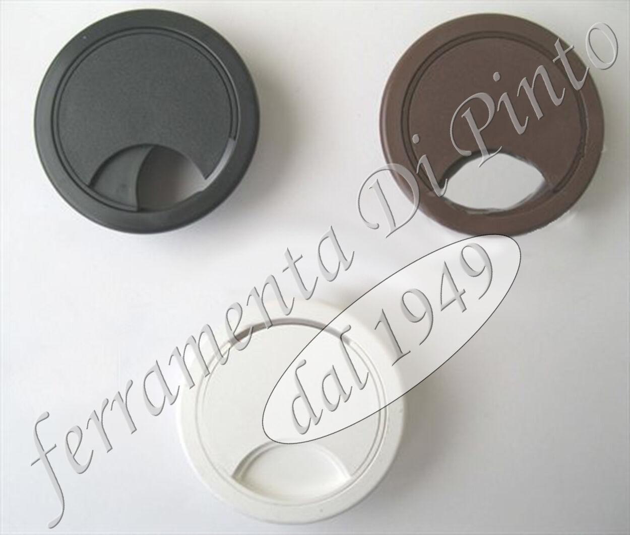 50 Strain Relief MM 80 Nozzle Desk Table Cap Plastic White Brown Black