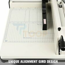 12 Inch Heavy Duty Paper Scrap Metal Base Guillotine Commercial Paper Cutter