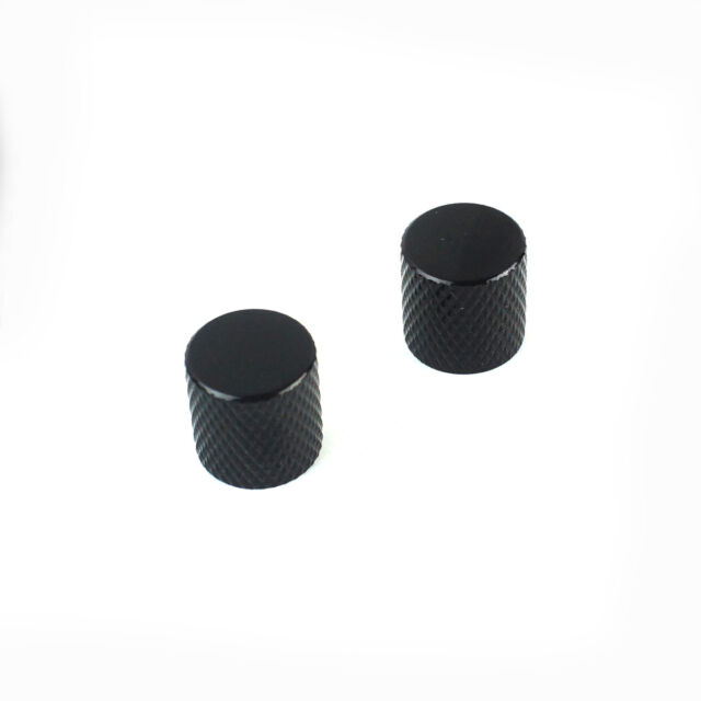 Flat-Top Chrome 2x Metal Guitar Knobs For Tele or JB style