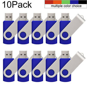 10PCS Rotating 1GB USB Flash Drives Anti-skid Pen Drive Enough Memory Stick