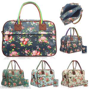 femmes fleur floral maternit jour petit sac de voyage voyage bagage main ebay. Black Bedroom Furniture Sets. Home Design Ideas