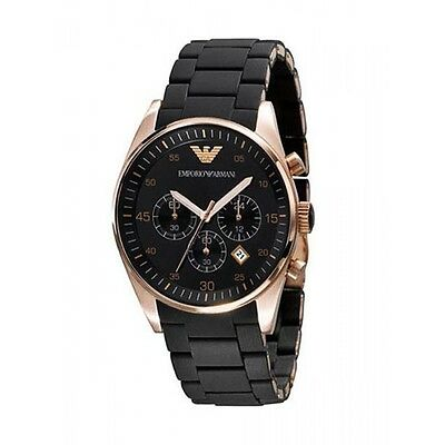 NEW EMPORIO ARMANI AR5906 ROSE GOLD LADIES CHRONOGRAPH WATCH - 2 YEAR WARRANTY