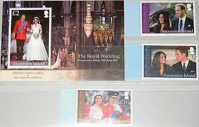 Ascension 2011 1147-49 Block 69 Royal Wedding Prince William & C. Middleton Mnh