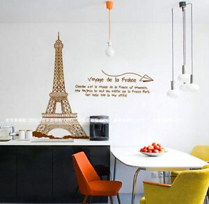 Image Is Loading France Paris Eiffel Tower Removable Wall Sticker Vinyl