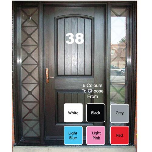 Oficina de casa puerta Wheelie Bin Números Letras Auto Adhesivo Pegatina de vinilo en las