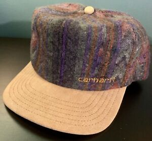 Vintage-90s-Carhartt-Southwest-Navajo-Print-Snapback-Hat-USA-Awesome-Condition
