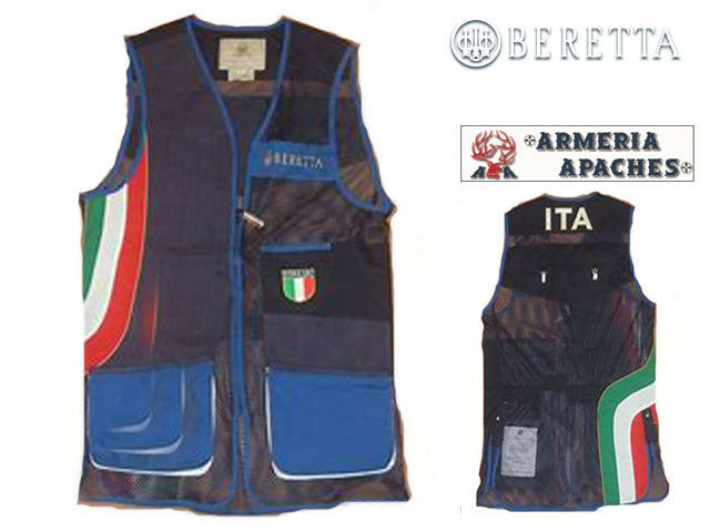 Gilet da tiro BERETTA -GT621 OLYMPIC ITALIA TRAP BLU AZZ