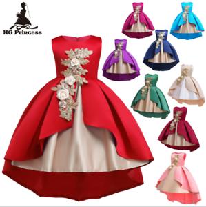Elegant-Kids-Girls-Dress-Toddler-Princess-Party-Birthday-Wedding-Dress-ZG9