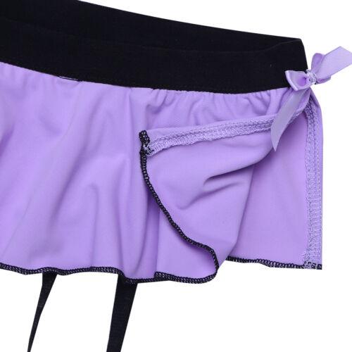 Sissy Mens Bikini G-string Thong Garters Lingerie Briefs Pouch Panties Underwear