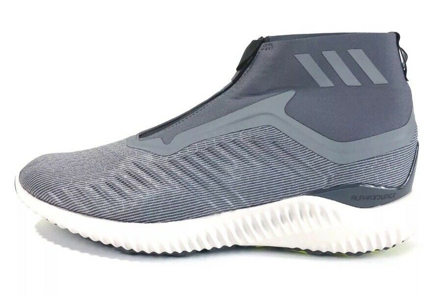 Adidas Alphabounce Zip M Men's Size 11 Running shoes Grey White BW1385 NEW