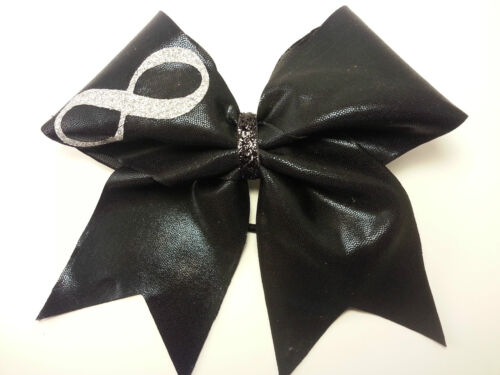 Infinity Black Mystique Cheer Hair Bow
