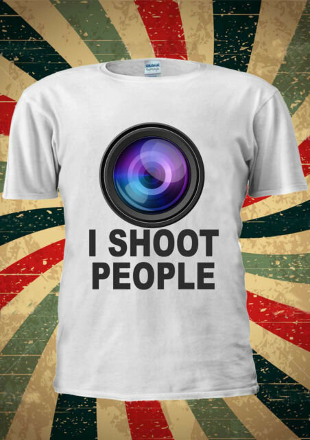 I Shoot People Photo Camera Tumblr T-shirt Vest Top Men Women Unisex 1902