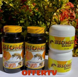 Details about 2 Biomed Arthritis Bee Therapy Pain Relief Pills 2 Muscle  Menthol Joint Cream