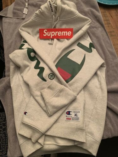 Supreme Champion Hooded Sweatshirt SS18 Ash Grey S