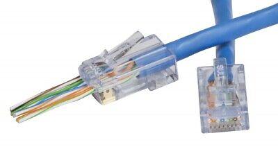 Ethernet 50 Network Cat6 EZ-RJ45 Platinum Tools 100010C LAN plug END connector