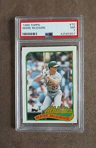 1989 Topps Baseball Mark McGwire Card #70 PSA Graded 7 NM