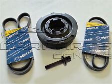 FOR BMW 118 120 320 520 D X3 2.0D Crank Shaft Pulley Alternator AC Belts Bolt OE