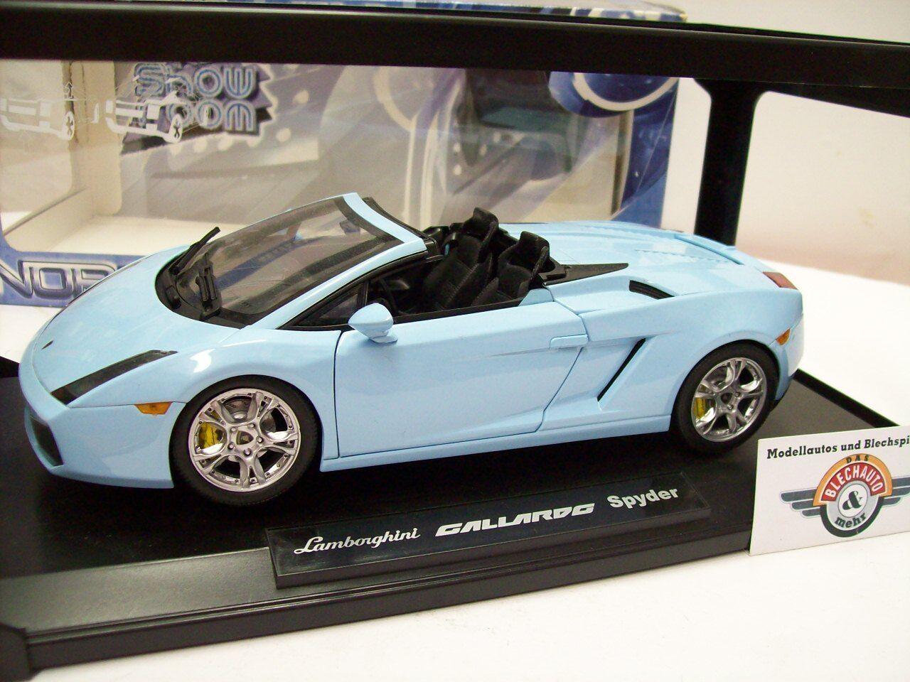 Lamborghini Gallardo Spyder, lumière bleu, 2006, NOREV 1 18,  NEUF dans sa boîte  grande vente