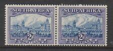South Africa - 1938, 2d Blue & Violet - Horizontal Pair - V/L/M - SG 58
