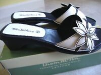 Brand Thom Mcan Petuna Leather Slip-on Sandals White Size 6