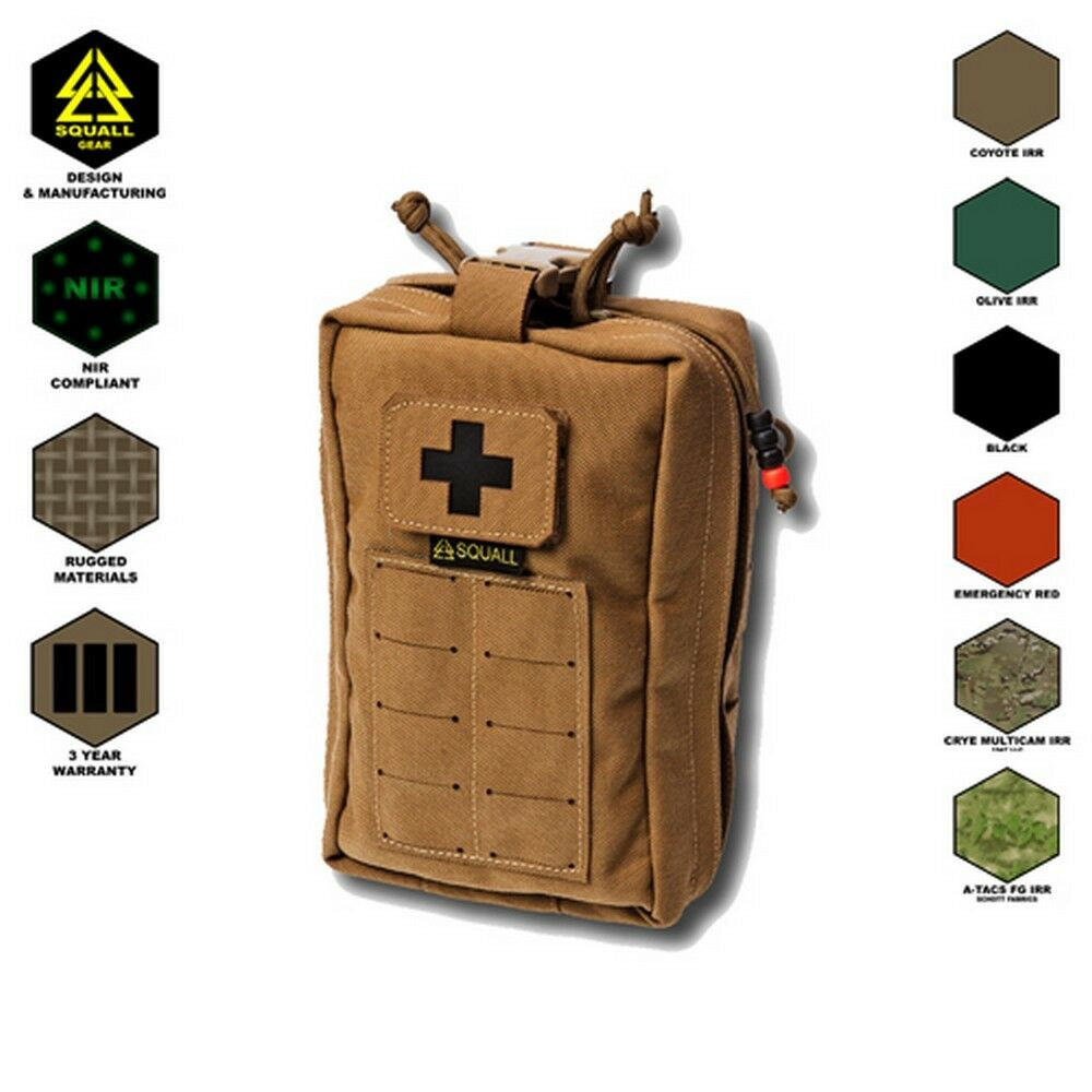 Molle 1000D Tactical Rip-Away Military Utility Tool Bag Medical First Aid Pouch