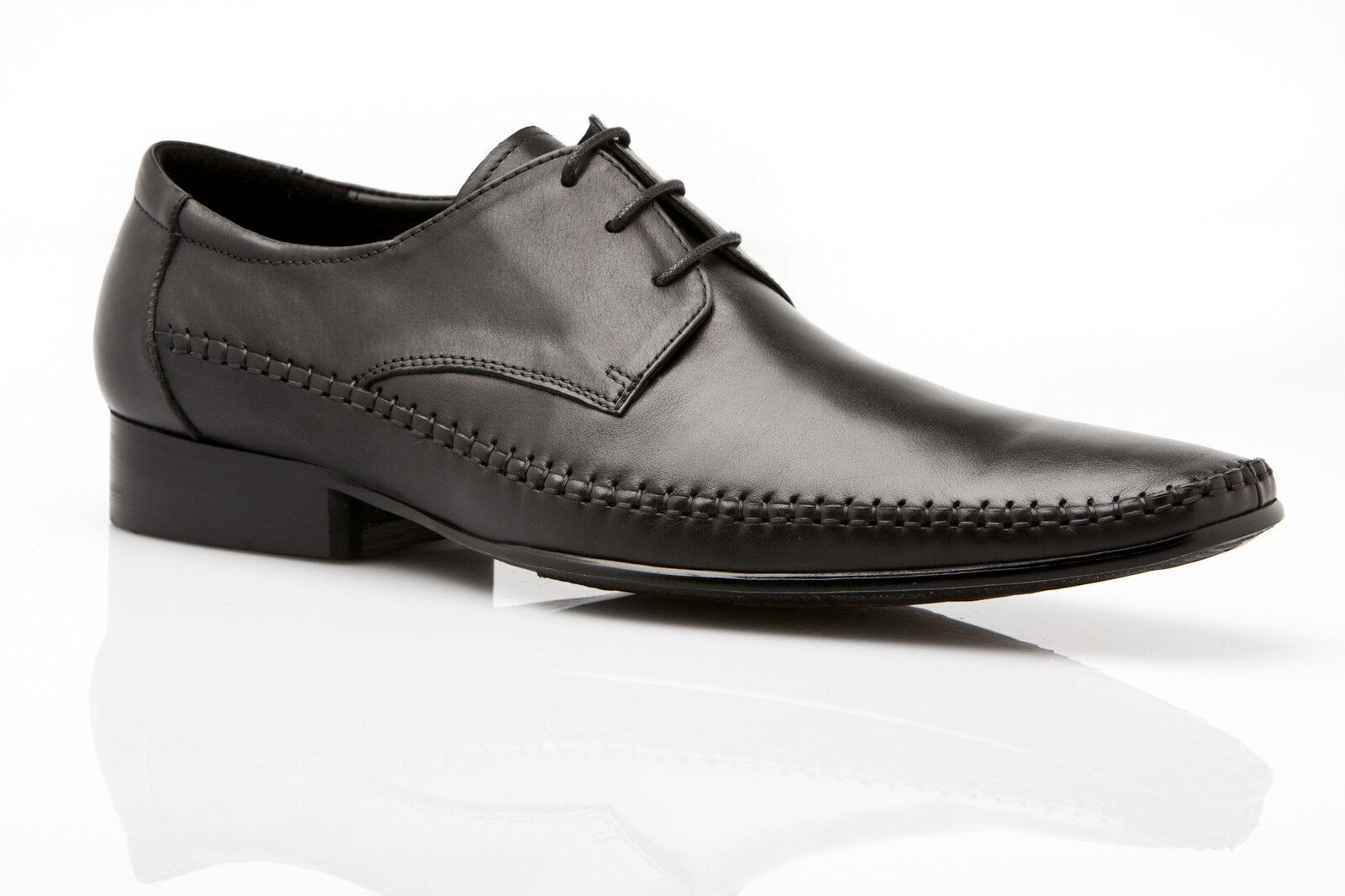MENS NIKO AUSTRALIAN DESIGN ZASEL DRESS schwarz schwarz schwarz LEATHER LACE UPS FORMAL WORK schuhe 987f6e