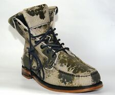 Sebago Kowloon Ankle Handsewn Moccasin Style Combat Camouflage Boots UK 6