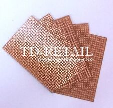 5 Pcs Perforated Copper Stripboard 6inchx4inch Test PCB Zero PCB (Single Sided)