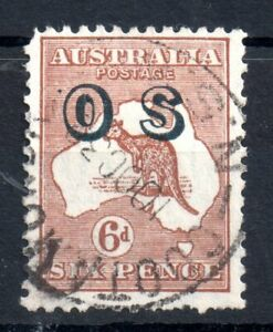 Australia-1931-6d-Roo-OS-Official-multi-WMK-fine-used-WS14375