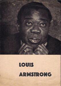 Louis Armstrong All Stars 1962 ORIGINAL German tour program Trummy Young RARE