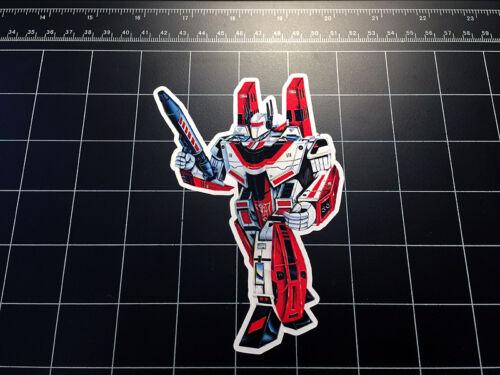 Transformers G1 Jetfire//Skyfire Box Art Vinyle décalque autocollant Autobot jouet années 1980