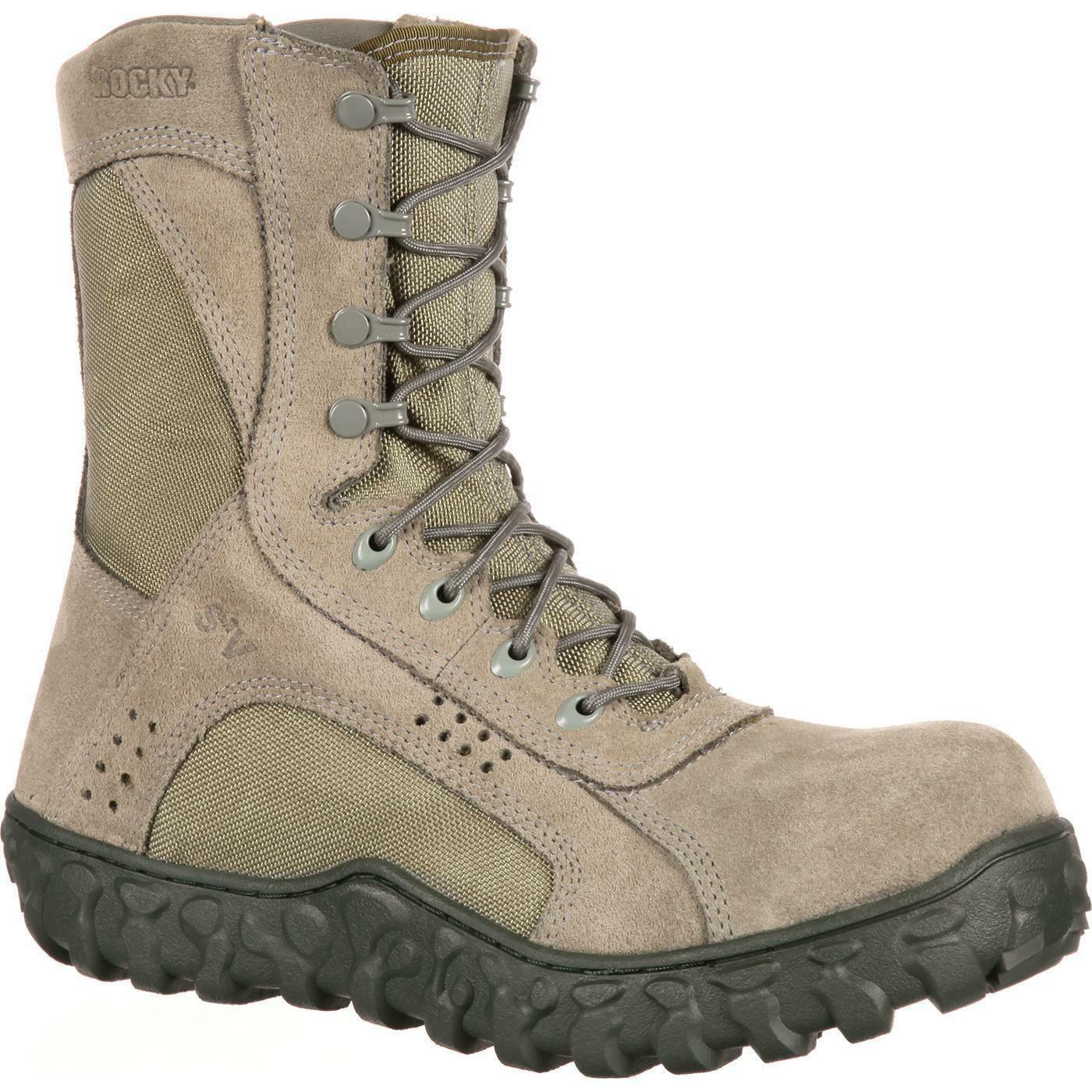 Rocky RKYC027 S2V 8  Composite Toe EH Rated US Made Tactical Military Stiefel