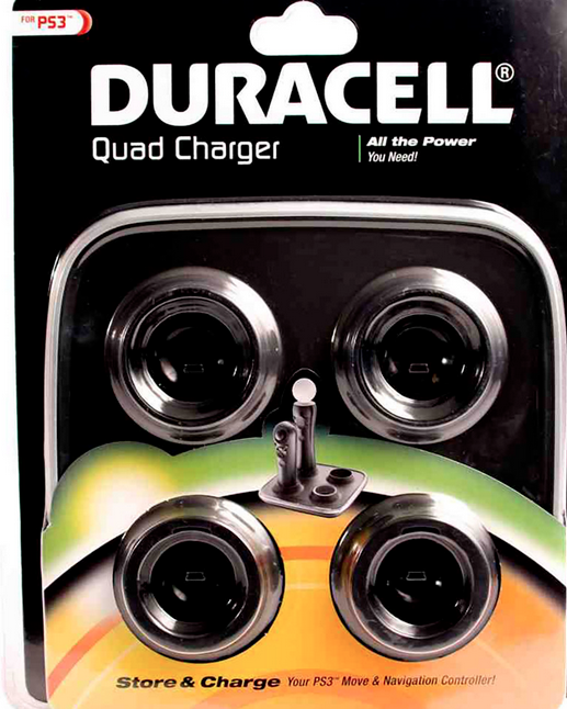 PS3 Move and Navigation Controller Quad Charger by Duracell FREE SHIPPING-NEW