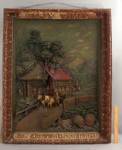 Lg Antique Early Times Kentucky Bourbon Whiskey Advertising Barroom Sign
