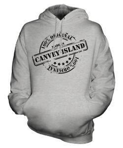 Made donna Felpa di per cappuccio compleanno uomo Canvey di uomo regalo Island con In Natale 8qwrF8t