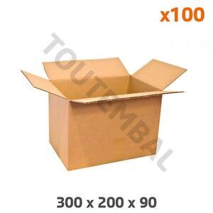 Carton simple cannelure 300 x 200 x 90 mm (par 100)