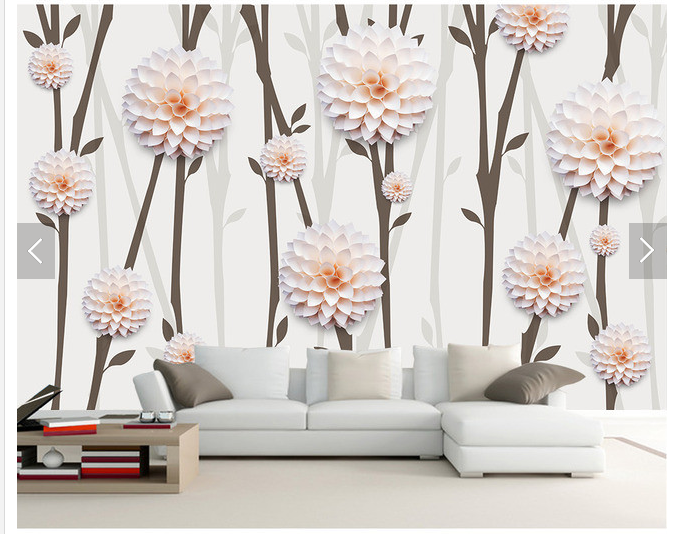 3D Cute Flowers Tree 7 Wall Paper Murals Wall Print Wall Wallpaper Mural AU Kyra