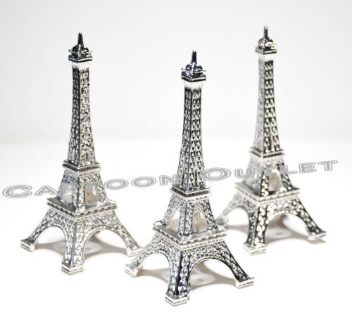 12 X EIFFEL TOWER PARIS FRANCE WEDDING BRIDAL SHOWER PARTY FAVORS 15 ANOS SILVER