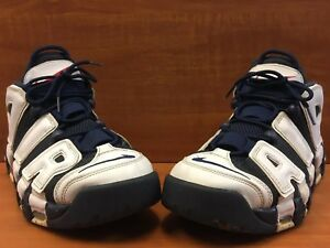 innovative design acae3 03d08 Image is loading Nike-Air-More-Uptempo-Olympics-Navy-White-Sport-