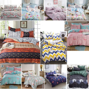 New-Luxury-Duvet-Quilt-Cover-With-Pillowcases-Bedding-Sets-Single-Double-amp-King