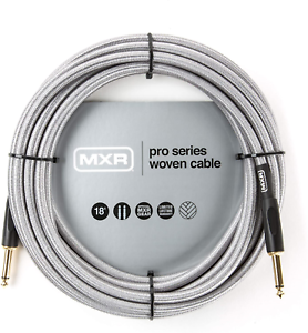 MXR Cable DCIW18 18ft Wooven Silver Instrument Cable