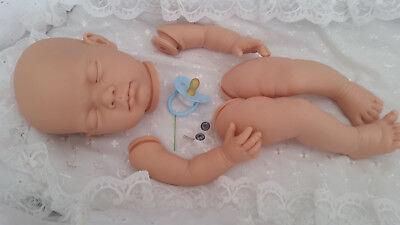 Imparato Bambola Realistica Kit Lotty Con Gli Arti Completa Senza Corpo + Blu Vinile Tettarella Manichino.-mostra Il Titolo Originale