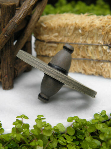 Miniature Dollhouse FAIRY GARDEN Farm Accessories ~ Wood Wooden Wagon Wheel NEW